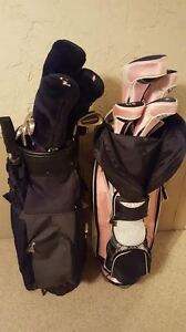 Set of golf clubs and golf bag