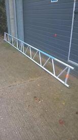Scaffolding Aluminium lattice beams 6m for sale plus 2.4 & 3 metre boards for sale
