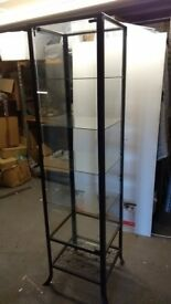 Tall Glass Display Cabinet with Glass Shelves (used)