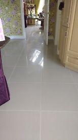 Highly polished Full-bodied Porcelain floor tiles 600mm x 600mm