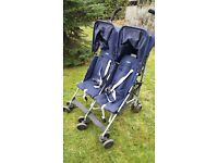 Double Buggy. Maclaren Twin Buggy. Good condition. Both seats recline.