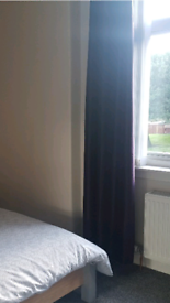 Dark purple curtains, ring top, 90x90 (approx!) £10