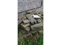 Yorkshire Stone building genuine wall walling rockery garden