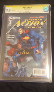 ACTION COMICS #1 VARIANT CGC 9.8 SS Signed by Jim Lee!