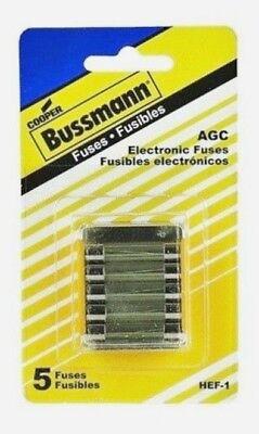 Bussmann Hef-1 Fuse Kit Agc For Electronics 5 Fuses