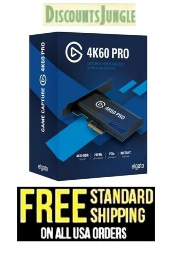 Elgato Game Capture 4K60 Pro - 4K 60fps capture card with ultra-low latency