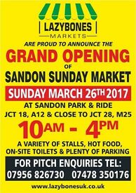 GRAND OPENING NEW SUNDAY MARKET SANDON PARK & RIDE