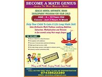 Maths class - A Brain box Mental math program - Abacus mental math arithmetic -