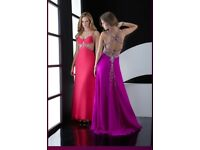 PROM DRESS LONG PURPLE SIZE 8 UK JASZ COUTURE