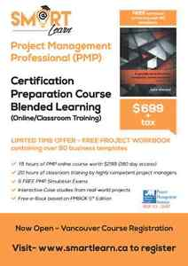 PMP Prep Course Blended Learning $699 + tax