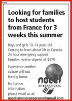 French exchange student looking for a host family