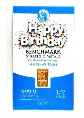 1 BAR 24K 1//2 GRAM GOLD THANK YOU HAPPY BIRTHDAY U CHOOSE 1 CARD d1 CONGRATS