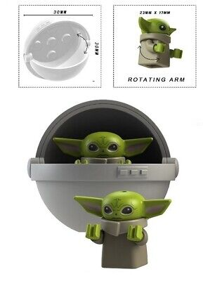 BABY YODA & CARRIAGE A MINIFIGURE FIGURE USA SELLER NEW IN PACKAGE
