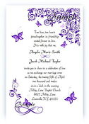 100 Custom Wedding Invitations