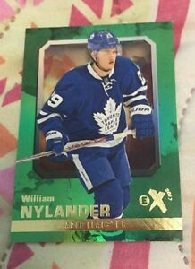 16-17 Flair Showcase Ex Green Acetate William Nylander Card Mint