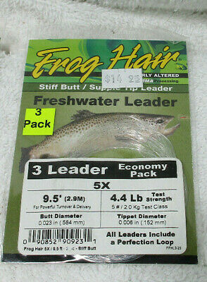 Scientific Anglers Premium Tapered Fly Leaders  9/'   14# Bass 2 Pack 113175