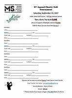 6th Annual MS Society Charity Golf Tournament