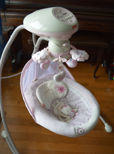 Fisher-Price Swing - Pink Hearts Design