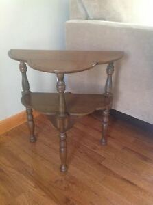 Small antique half table