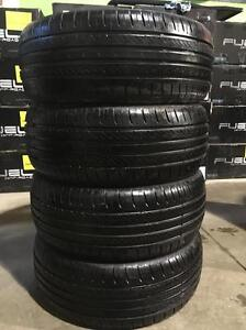 4 quality used P 195/55/16 Infinity Ecosis all season tires INSTALLED and BALANCED for $299