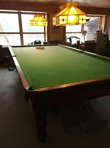 Antique 6x12 Brunswick Snooker Pool Table