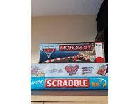 Cars Monopoly / Junior Scrabble / Guess Who - 3 x board games