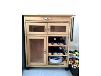 Oak Wood Cabinet Surface for Kitchen (Wine storage)