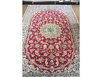 Persian Nain handmade rug wool & silk 305 x 196m