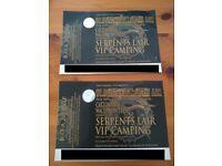 Bloodstock Weekend Serpents Lair VIP Camping x2