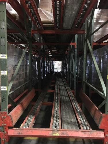 Pallet Flow Pallet Racking (4 Deep X 3 High)