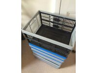 14 Collapsible plastic crates