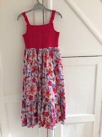 2 x George Asda girls summer dresses, size 8-9