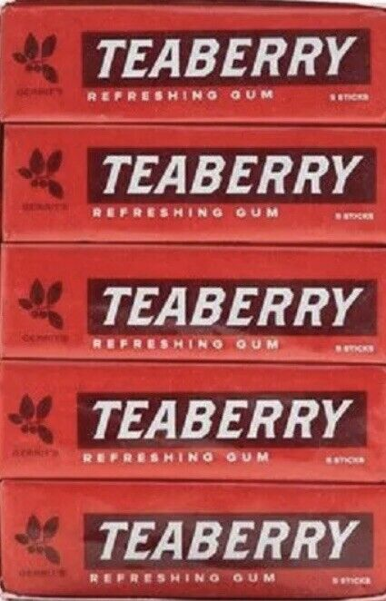 TEABERRY GUM IS BACK! Whole box of 20 packs. SUPER FRESH!