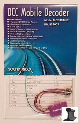 SoundTraxx ~ New 2019 ~ DCC Motor Decoder ~ MC2H104OP ~ 8 Pin W/Harness ~ 852003