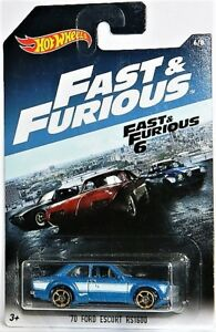 Hot Wheels 1/64 '70 Ford Escort RS1600 Fast And Furious Diecast
