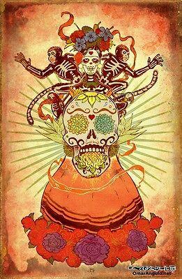 Day of the dead art / Dia de los Muertos sugar skull art, signed by artist