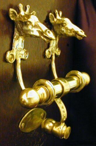 GIRAFFE Bronze DUET Door Knocker
