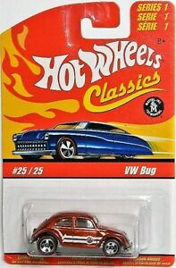 Hot Wheels Classics 1/64 VW Bug Redline Diecast Car