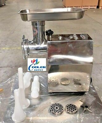 New Commercial Electric Meat Grinder 850w Stainless Steel Heavy Duty Mincer