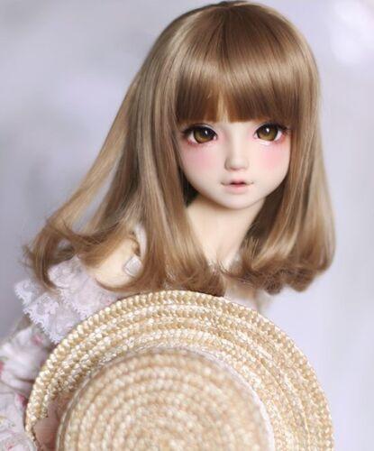 Bjd Doll Wig 1//3 8-9 Dal Pullip AOD DZ AE SD DOD LUTS Dollfie black Toy// Hair