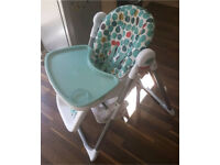 Mamas & Papas Unisex High Chair White/Teal £25 for Quick sale