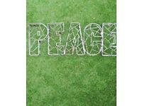 Peace Garden sign.