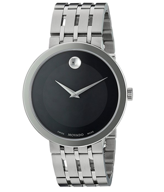 $449.95 - NEW Movado Esperanz Black Dial Stainless Steel 39mm 0607057 Mens Swiss Watch