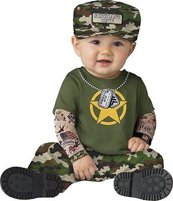 Incharacter Sergeant Schwer Us Army Hero Flag Kleinkinder Baby Halloween Kostüm ()