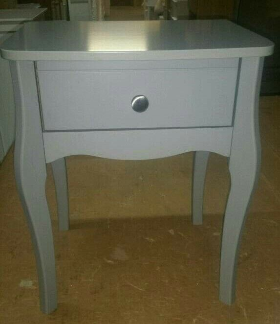 A brand new stylish grey finish 1 drawer bedside table.