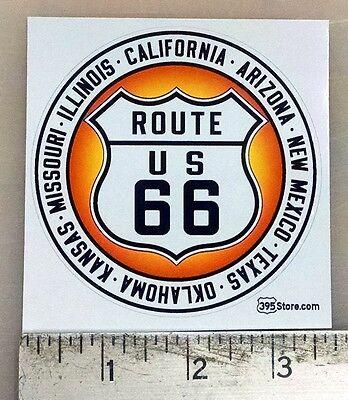 """Route 66 CA AZ NM TX OK KS MO IL sticker decal 3.5""""x3.5"""""""
