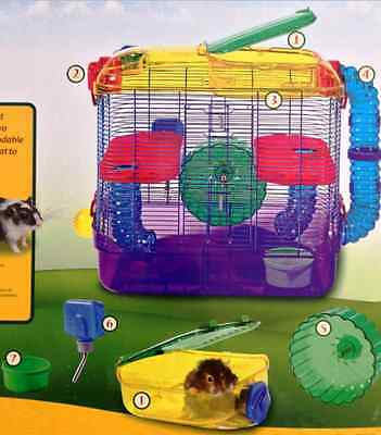 The Best Hamster Cage And Habitats Big Large Accessories Wire Mice Gerbil