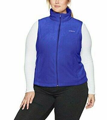 Columbia Sportswear Women's Benton Springs Vest Navy Blue 1X Plus Size Macy's  Womens Plus Columbia Sportswear