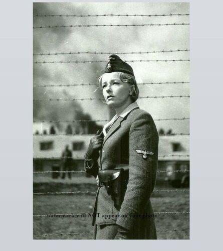German Prison Camp Female Guard PHOTO World War II, Auschwitz Concentration Camp