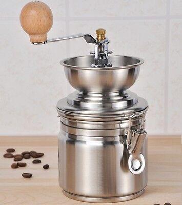Kaffeemühle aus Edelstahl mit Keramik Kegel-Mahlwerk Steel Coffee Mill Mühle
